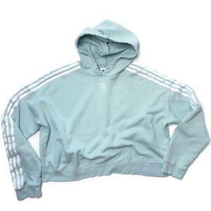 Women's Large Adidas Crop Hoodie